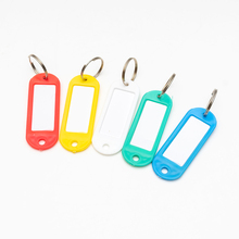 30Pcs Colorful Plastic Key Fobs Luggage Labels  with Name Cards  Assorted Key Rings ID Tags  For Many Uses - Bunches Of Keys 50 in 1 assorted color plastic key id label name card tags keychains keyrings