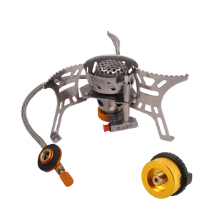 Image 1 - Portable Windproof Camping Gas Stove Outdoor Cooking Stove Foldable Split Burner with Gas Conversion Head Adapter