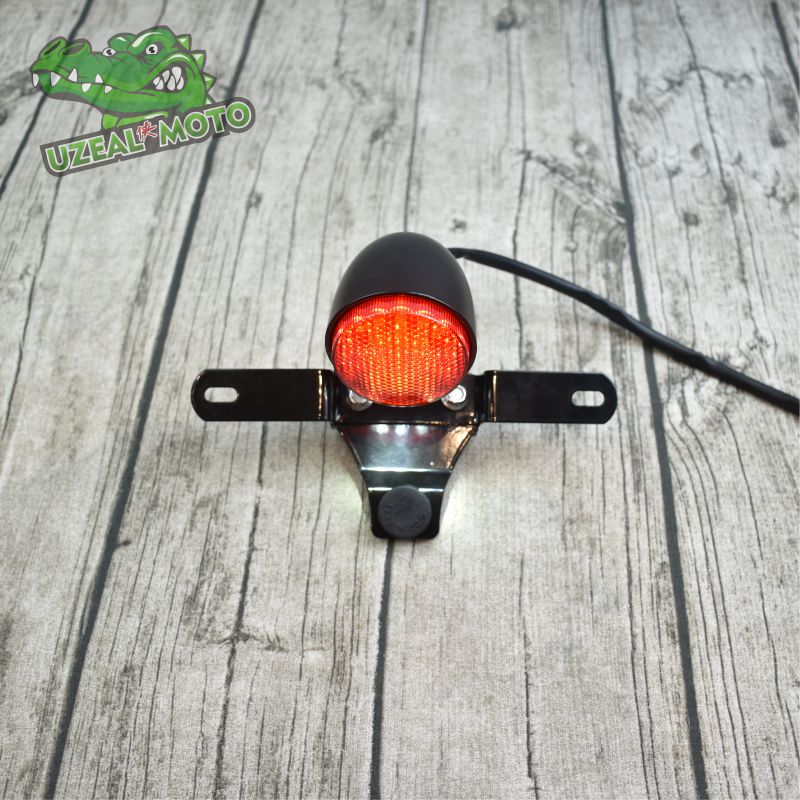 GN Retro Motorcycle Modified LED CE Aluminum Alloy  Rear Tail Light License Plate Light Brake Light EMARK