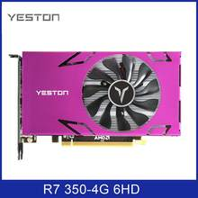 Yeston Grafikkarte R7 350-4G 6HDMI-Compatible 6 Bildschirm Split-Screen 4GB /GDDR5/128Bit 4500MHz VGA + HDMI-Kompatibel + DVI-D