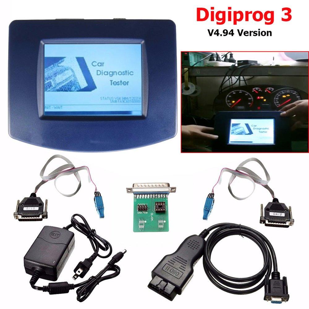 6 pièces de Défaut de Voiture Testeur de Diagnostic Unité Principale de Digiprog III Digiprog 3 V4.94 avec OBD2 ST01 ST04 Câble Accessoires De Voiture