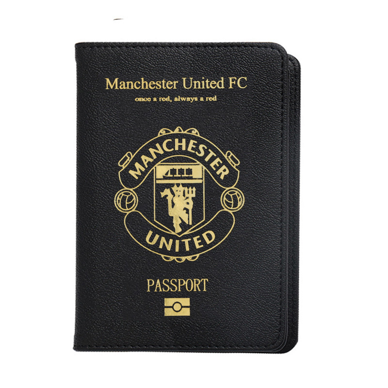 Manchester Passport Cover Men Travel Passport Holder Fit For UK Passport Cover