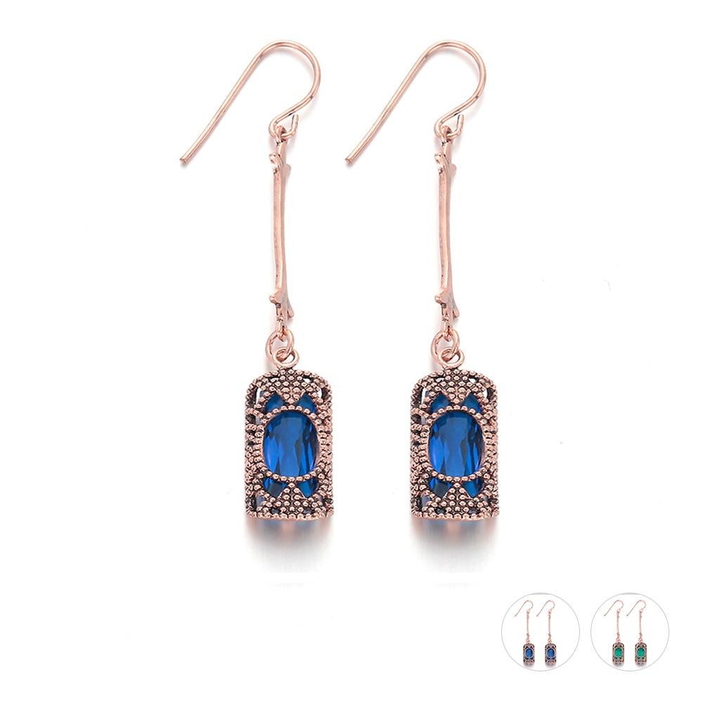 Bohemian-New-Women-Earrings-Vintage-Brass-Long-Hanging-Dangle-Crystal-Drop-Earrings-Fashion-Party-Jewelry-Gifts