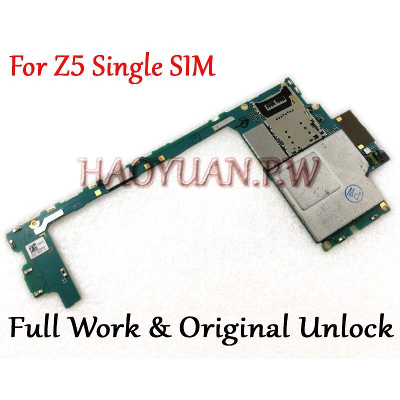 Volle Arbeit Original Entsperrt Mainboard Für Sony Xperia Z5 Einzel SIM E6603 E6653 Motherboard Logic Circuit Elektronische panel-in Handyhüllen aus Handys & Telekommunikation bei AliExpress - 11.11_Doppel-11Tag der Singles 1