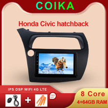 """Octa Core 7 """"Android 9.0 Systeem Auto Touch Screen Stereo Voor Honda Civic Hatchback 2006 2012 Gps Wifi swc Dvr Bt Dsp 4 + 64G Ram"""