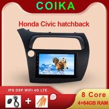 "Pantalla táctil estéreo para coche Honda Civic Hatchback sistema Android 9,0 de 7 "", GPS, WIFI, SWC, DVR, BT, DSP, 4 + 64G de RAM"