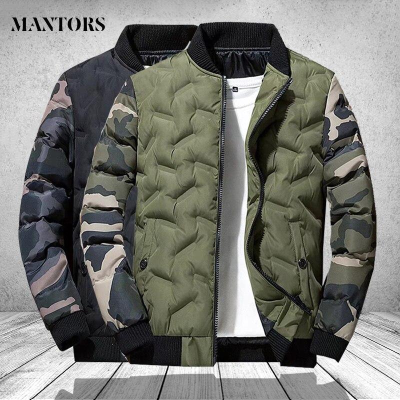 Casacos de inverno dos homens e casacos outerwear vestuário 2020 camuflagem bombardeiro jaqueta blusão masculino grosso quente parkas militares