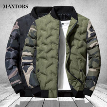 Casacos de inverno dos homens e casacos outerwear vestuário 2021 camuflagem bombardeiro jaqueta blusão masculino grosso quente parkas militares