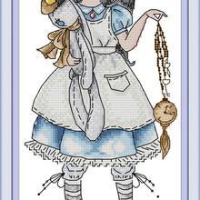 Набор крестиков Алиса aida 14ct 11ct граф Печать холст вышивка крестиком es рукоделие вышивка DIY ручной работы