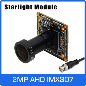 Image 1 - Starlight 1080P AHD Camera Module Board with IMX307 and F1.2 4mm Lens UTC Coaxial OSD Control Colorful Nightvision