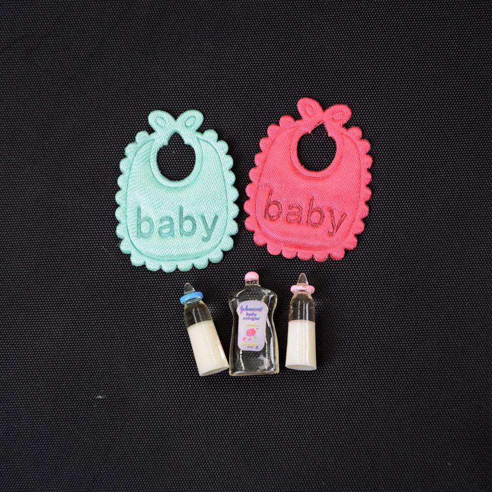 1:12 maison de poupées miniatures biberons shampooing bavoirs ensemble pépinière accessoire cadeau