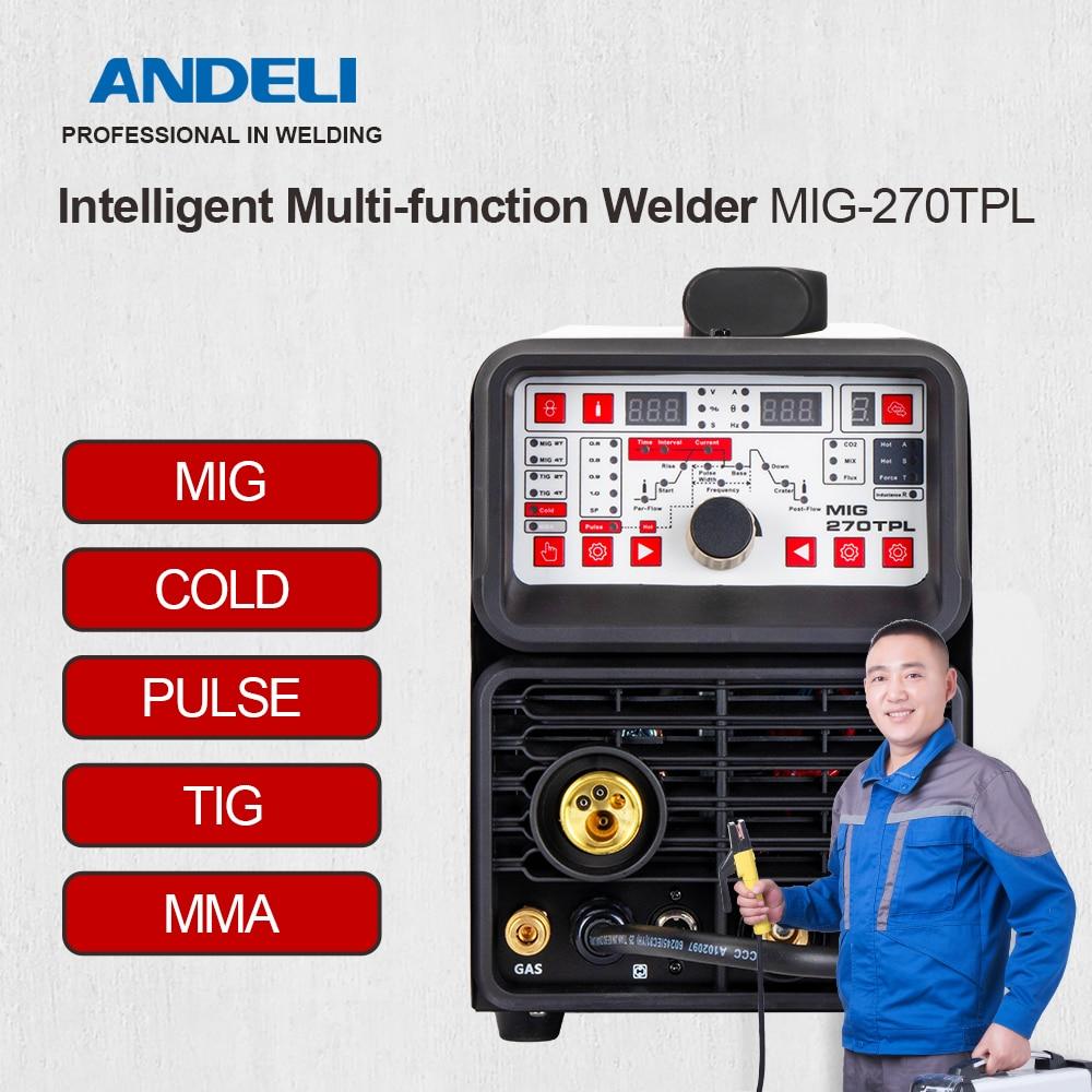 ANDELI однофазный TIG MIG 270TPL MIG Pulse TIG MMA Cold 4 в 1 TIG сварочный аппарат MIG сварочный аппарат холодной сварки|Сварочные аппараты|   | АлиЭкспресс - Сварка