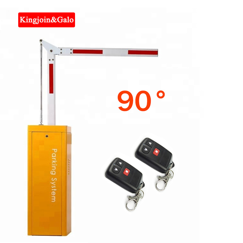 High End Electronic Car Parking Barrier Right Angle 90 Degree Curved Arm Remote Gate Arm Gate Automatic Barriere De Parking