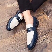 Mode männer Schuhe Mix-ed Farbe Casual Slip-on Loafer Schuhe Männlichen Luxus Marke Mokassins Plus Größe 38-48 herren Oxfords Schuhe
