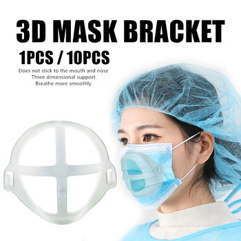 1/10PC 3D Reusable Mask Bracket Prevent Tightness Better Breath Flexible Food Grade Silicone Mouth Mask Support Bracket TSLM1 1