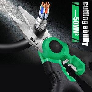 """Image 3 - LAOA ciseaux délectricien 6 """"coupe fil Crimpper acier inoxydable dénudeur câble coupe outil de sertissage"""