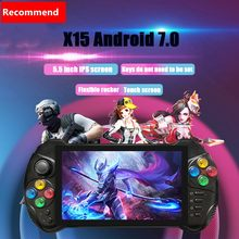 New Powkiddy 5.5 inch touch screen retro game console support android 7.0 wifi for PSP N64 MD PS GBA GBC MAME game console(China)