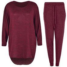 Camisola feminina de duas peças conjuntos de calças de malha fino agasalho 2020 primavera outono moda sweatshirts terno esportivo feminino 2021 а