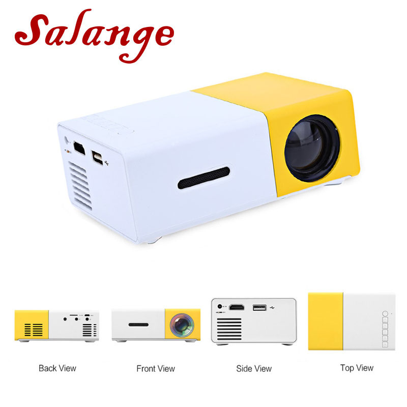 Salange YG300 Mini Projector LED Projector 500LM Audio HDMI USB Mini YG-300 Proyector Home Theater Media Player Beamer