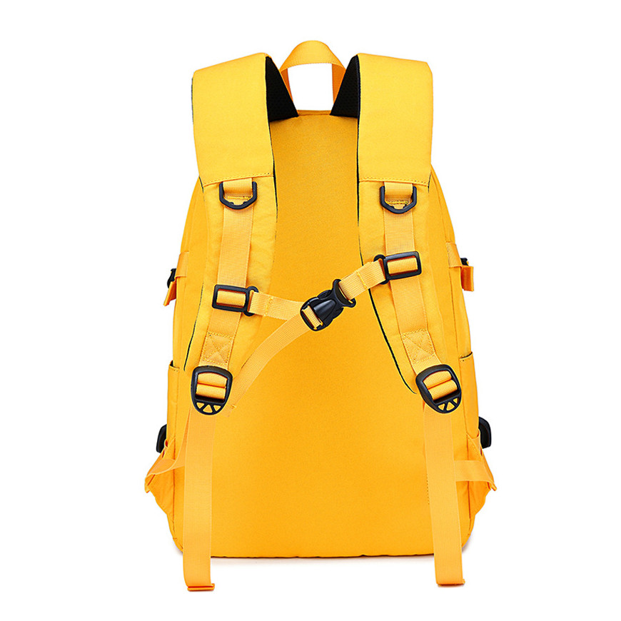 Fengdong fashion yellow backpack children school bags for girls waterproof oxford large school backpack for teenagers schoolbag 6