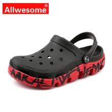 Allwesome Croc Shoes Aqua Clogs Massage Slippers Flip Flops Men Summer Terlik Sandals Gladiator Sandalias Zapatos De Hombre