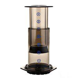 Nowy filtr szklana kawiarka do espresso przenośna kawiarnia francuska prasa CafeCoffee Pot do AeroPress maszyna 11x10x25cm|Ekspresy do kawy|AGD -