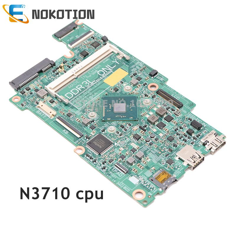 NOKOTION For Dell Inspiron 11 3168 Laptop Motherboard SR2KL N3710 CPU DRAX BSW 1SP MB 15299-2 Y619T CN-0J71V9 0J71V9 Mainboard