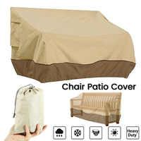 Pátio capa de mobiliário ao ar livre quintal jardim cadeira sofá à prova dwaterproof água capa poeira proteção solar oxford pano dobrável drawstring tabela