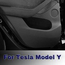 Cab Protective Film Car Door Anti-Kick Film Threshold Anti-Dirty Sticker Co-Pilot Glove Box Protection Sticker For Tesla Model Y