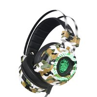 Professional Gaming Headphones Built in Sound Card USB 7.1 Channel Headset Stereo Wired Earphones with Microphone for Gamer Headphone/Headset    -