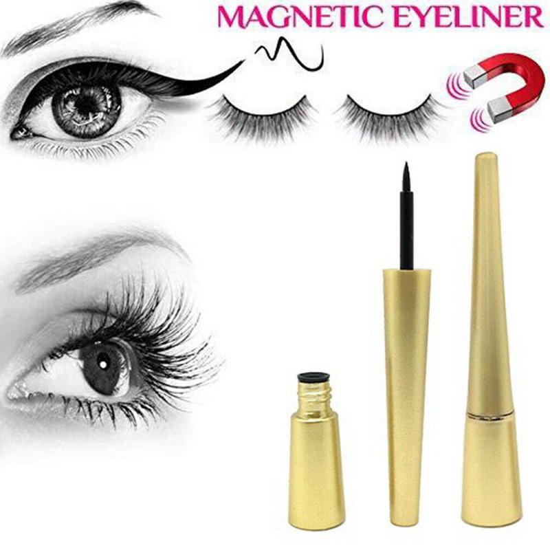 New Magnetic Liquid Eyeliner With Five Magnetic False Eyelashes Matching Tweezers Waterproof And Natural Magnet Eyelash Set