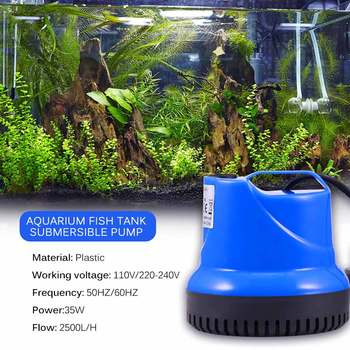 Water Pump 35W Ultra-Quiet Submersible Water Pump Water Fountain Pump Filter Fish Pond Aquarium Tank 110V/220-240V 15w submersible water pump with led light for garden aquarium fish tank pond fountain pump