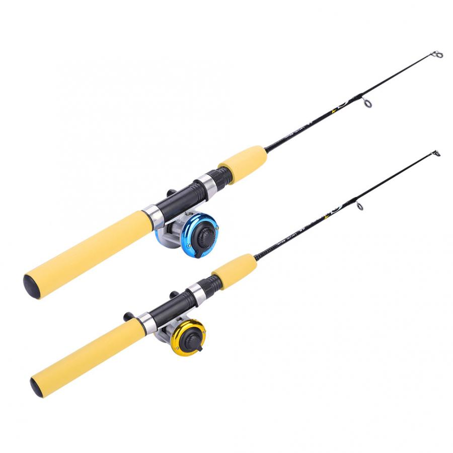 Ice-Fishing-Rods Winter Shrimp-Lure-Set with Luminous Portable 55cm 65cm 75cm Pole title=