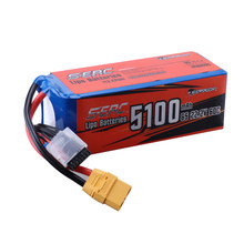 SUNPADOW 6S 22.2V Lipo Battery 5100mAh 60C with XT90 Plug for RC Airplane Helicopter Drone FPV Quadcopter Model Racing