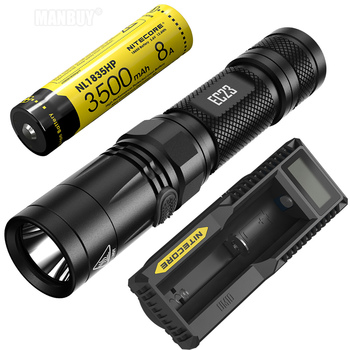 Sale 2020 NITECORE EC23 + UM10 Charger+Rechargeable 18650 Battery Waterproof Outdoor Camping Hiking Portable Torch Free Shipping