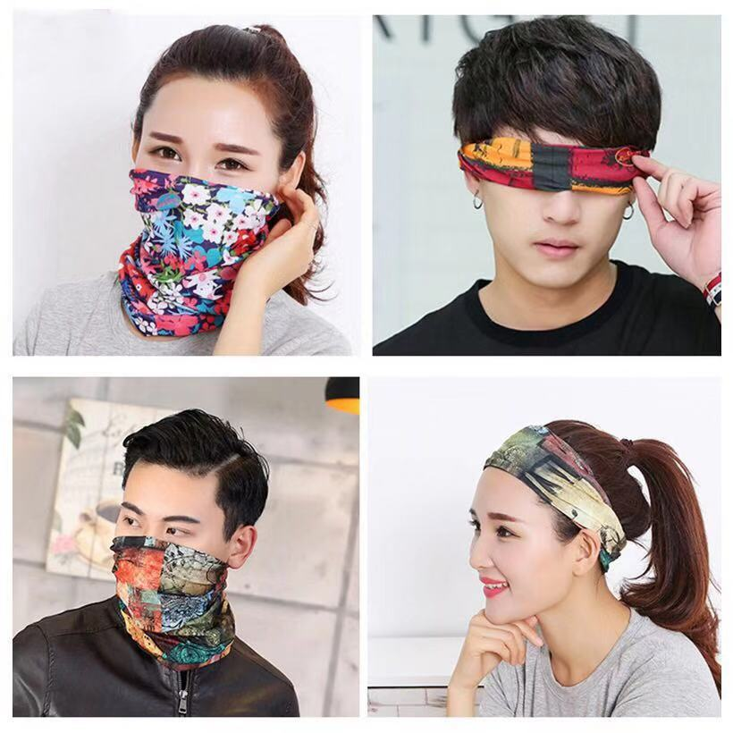 Outdoor Multifunctional Bandana Scarf Windproof UV Protection Bandana Headband Magic Face Scarf Seamless Tubular Tube Ring Scarf