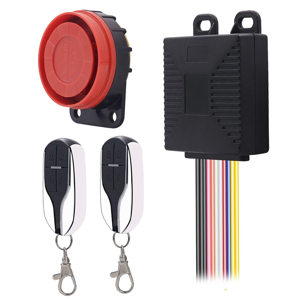 Universal Motorcycle Scooter Anti-theft Security Alarm System Alarming Sirens With Engine Start Remote Control Key