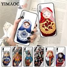 YIMAOC Russian matryoshka Dolls Coque Glass Case for Huawei P10 lite P20 Pro P30 P Smart honor 7A 8X 9 10 Y6 Mate 20
