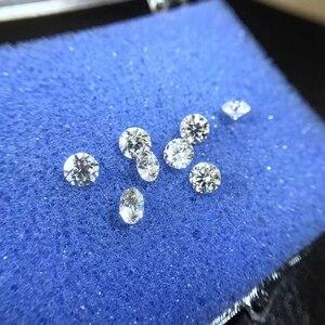 Image 2 - 2 шт. 5 мм IJ цвет 0,5 карат, лаборатория, выращивающий камень муасанит, отличная круглая огранка VVS1, свободное АЛМАЗНОЕ КОЛЬЦО, материал для женского подарка