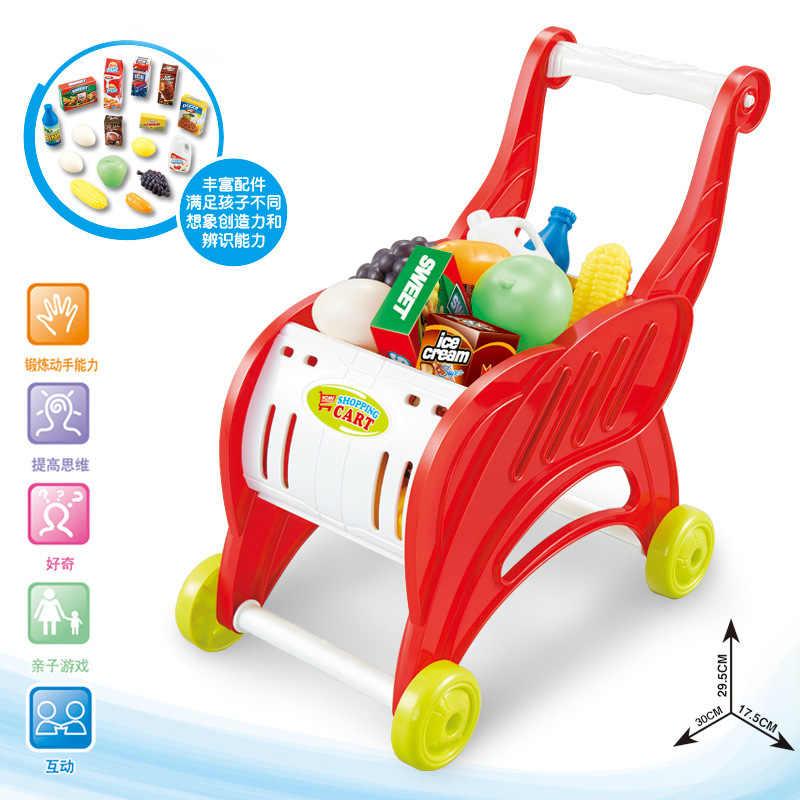 Beibigu Kinderen Model Hand Push Supermarkt Trolley Mini Candy Boot Set Ouder En Kind Interactieve Speelhuis Speelgoed