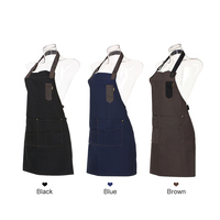 Pro Salon Barber Hairdresser Gown Cape With Pockets Jean Apron Hair Cutting Cloth Hair Dyeing Cape Hair Styling Tool