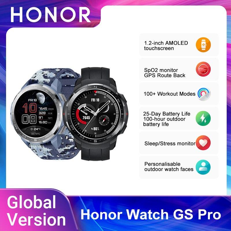 Новинка, умные часы глобальная версия Honor GS Pro, экран 1,39 дюйма AMOLED, мониторинг пульса, уровня кислорода в крови, Bluetooth, 5 атм