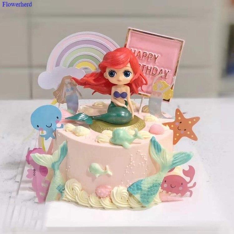 Русалки Fondant (сахарная) Торт украшения морской серии силиконовая форма в виде хвоста русалки шоколадная форма для торта с помадкой формы для...