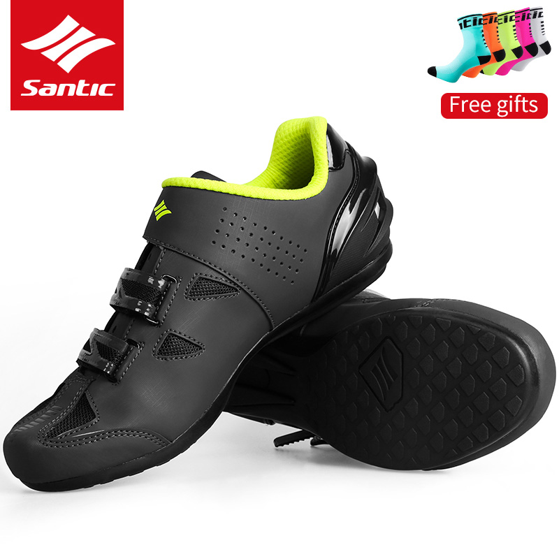 SANTIC MTB Cycling Non-locking Bicycle Shoes Non-slip Breathable Comfortable Bike Shoes Riding Shoes Athletic Racing Sneakers