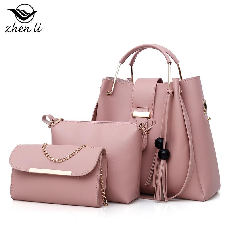 Zhenli Women's Fashion Bags 2019 Europe And America Style WOMEN'S PU Handbag Amazon New Style Kit