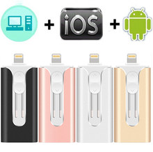 Usb Flash Drive Voor Iphone 6/6 S/6Plus/7/7Plus/8/X Usb/Android/Micro/Ios 3 In 1 Pendrive 64 Gb 128 Gb Voor Ios Opslag Apparaten 3.0(China)