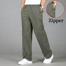 2020 אופנה גברים מכנסיים מקרית כותנה מכנסיים ארוכים ישר רצים זכר כושר בתוספת גודל 5XL 6XL יוקרה עסקי קיץ מכנסיים גברים