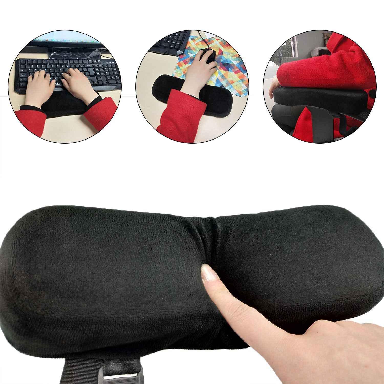 Подушки-подлокотники для стула коврик для запястья мыши и подушка для подлокотника из пены Momery с противоскользящей тканью, универсальная подушка для локтя Cu