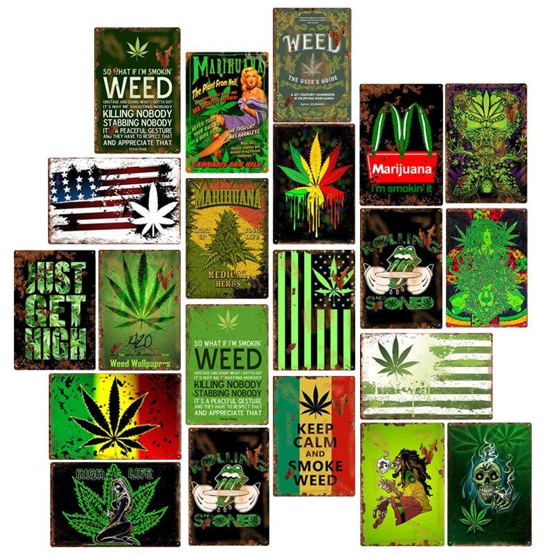 Зеленая трава, граффити, жестяная вывеска с надписью Keep Calm, дым, трава Предупреждение ющие вывески, винтажные металлические таблички, Настен...