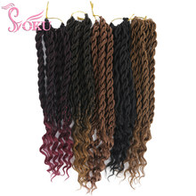 SOKU déesse sénégalaise torsion bouclés fin 24 supports/pièces synthétique Crochet tresse Extensions de cheveux Ombre havane Mambo torsion tressage(China)